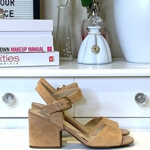 Geox Marilyse Nude Suede Sandal Size 39.5